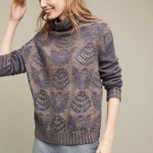 NWT Anthropologie Folk Foliage pullover sweater